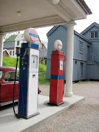 writing on empty; gas pumps