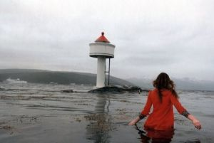 Woman in the water_lighthouse