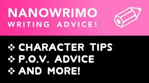 NaNoWriMo Character Tips POV